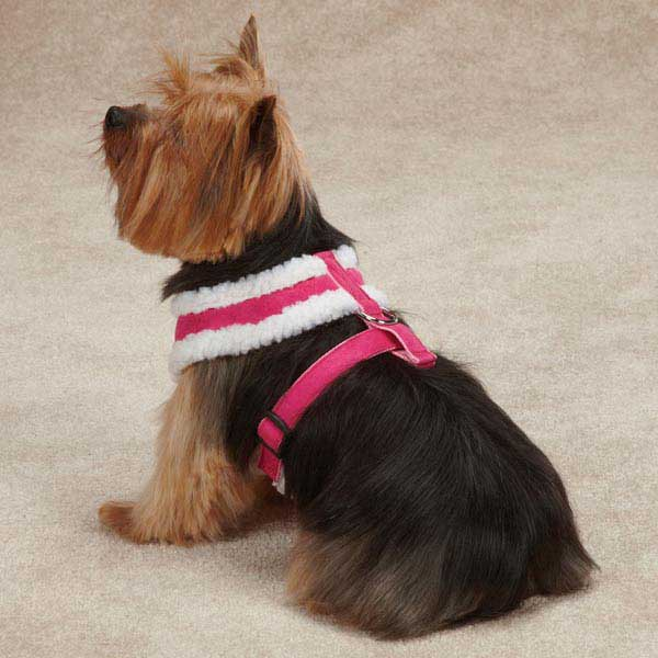 faux suede harness pink 2