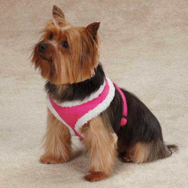 faux suede harness pink