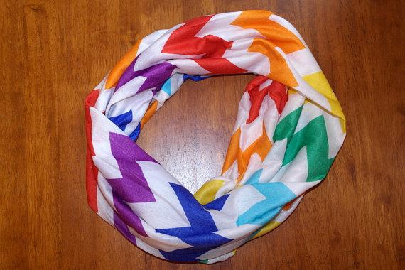 rainbow chevron scarf