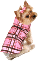 Pink Plaid Raincoat