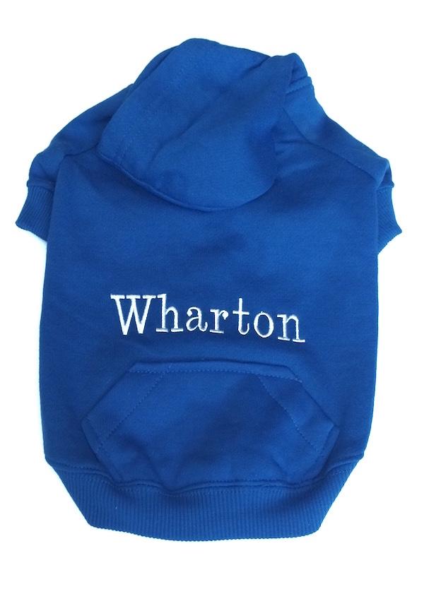 Royal Blue Wharton White thread