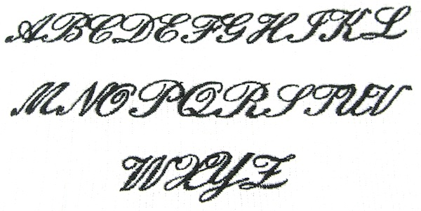 Script Upper Case Alphabet