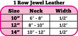 Size chart bling rhinestone leather