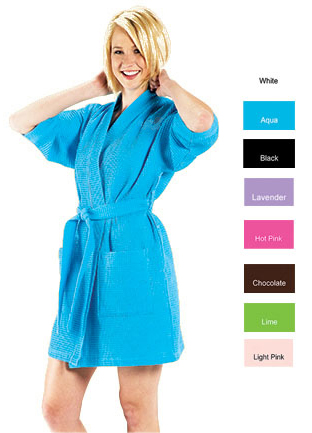 Spa Robes Kimono Style Short or Long Unisex