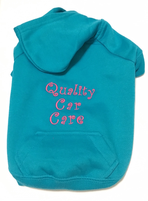 Turquoise Hoodie Quality Car Care