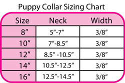 turquoise size chart