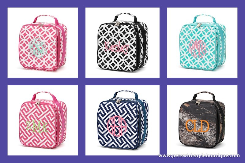 Personalized Insulated Lunch Bag Box Monogram Name Greek