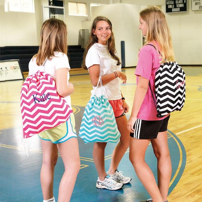 Chevron Drawstring Gym bags