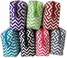Chevron travel cosmetic bags multi colors
