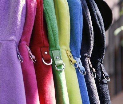 Gooby fleece dog hoodie harness multi colors