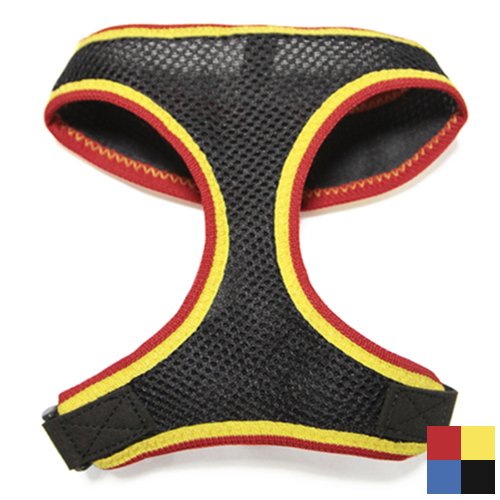 Gooby Freedom Sports Harness Black/Red/Yellow