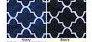 navy/black pattern inf scarves
