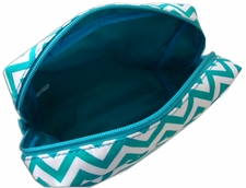 Inside travel chevron cosmetic bag
