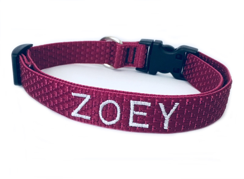 Best Seller Eco Friendly Embroidered Personalized Dog Collars  - Made from recycled water bottles, Beautiful colors Matching Leashes available too