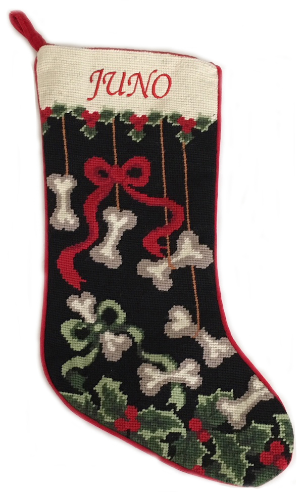 """RED MONOGRAM CHRISTMAS STOCKING WITH BELLS HOLIDAY EMBROIDERED LETTER /""""B/"""" NEW"""
