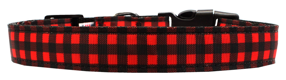 Best Seller Buffalo Check Dog Collar Plain or Personalized