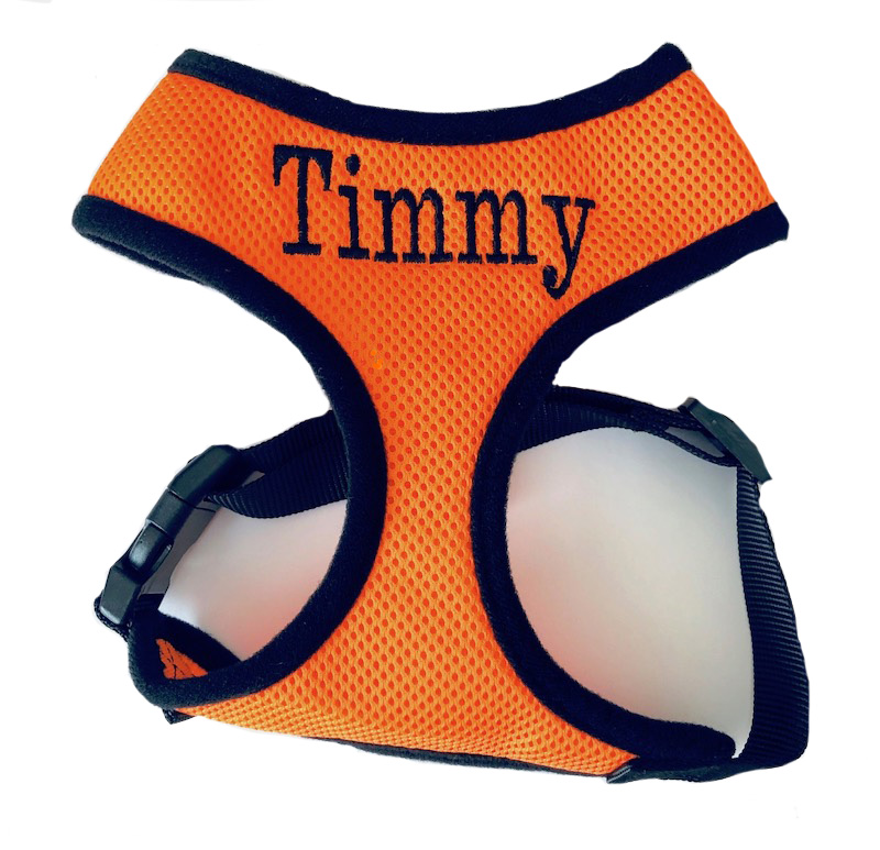 Personalized Dog Harness Custom Embroidered Soft Mesh - XS-XL