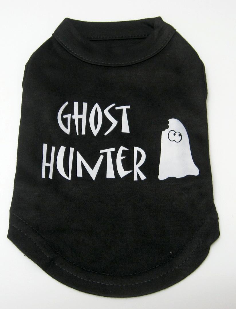 Halloween Dog Tank Shirt Ghost Hunter Screen Print
