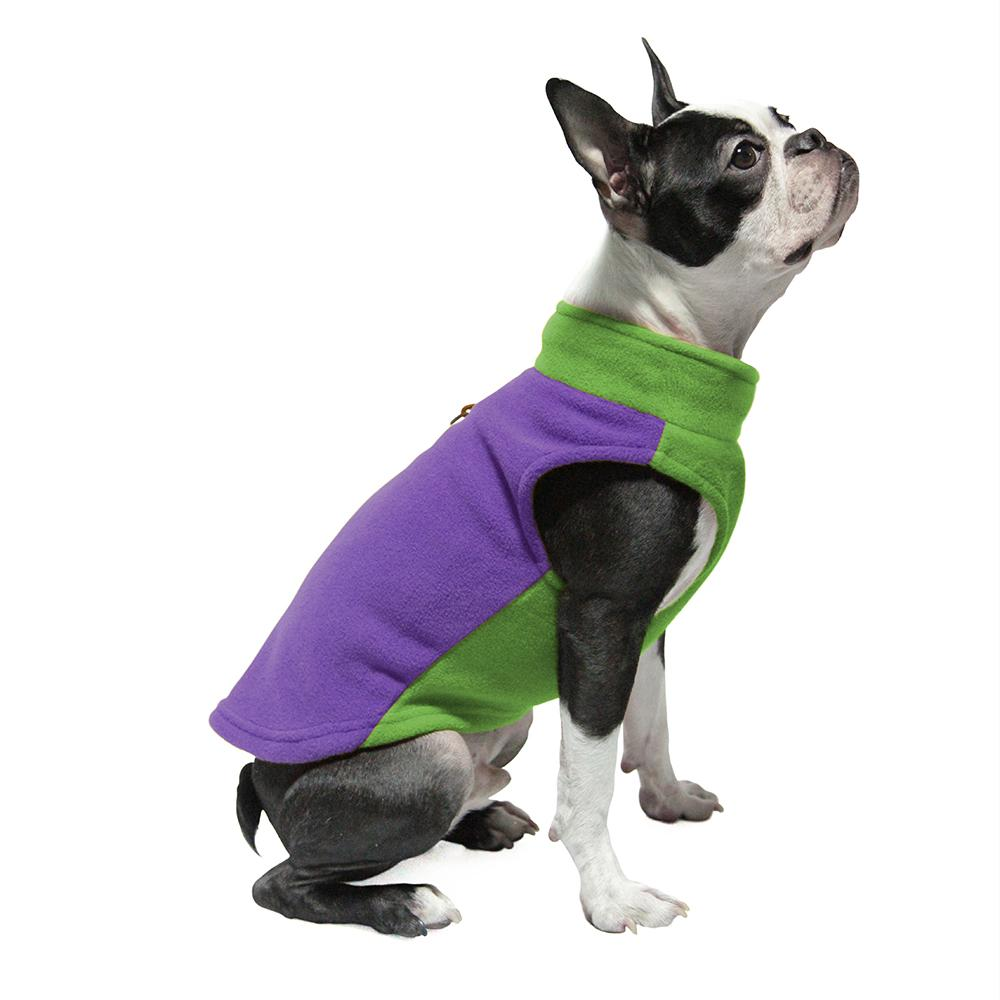 Best Seller Gooby Fleece Dog Harness Half Stretch - two tone colors, More colors