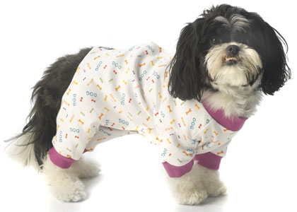 Best Seller Dog Pajamas Personalized with Pet's Name - Bones or Zebra print