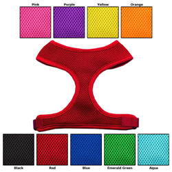 Bling Personalized Soft Mesh Dog Harness Personalized or Plain Vivid Colors