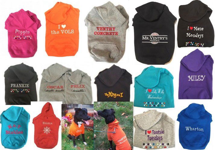 #1 Best Seller Personalized Custom Dog Sweatshirt Hoodie Custom Embroidered -  More colors