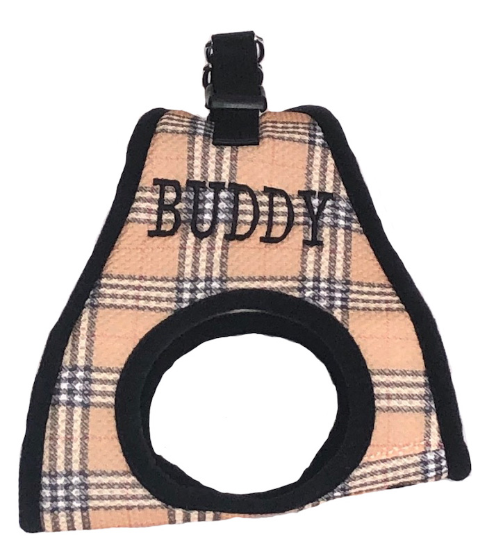 Step in Plaid Dog Harness EZ Wrap Personalized with your Pet's Name XXS - XXL