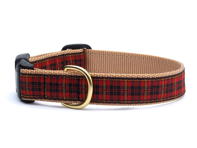 UpCountry Designer Red Plaid Dog Collar