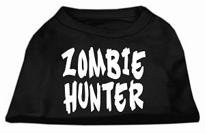 Halloween Dog Tank Shirt Zombie Hunter Screen Print- Be ready for the Zombie Apocolypse