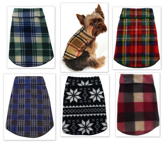 Best Seller Stretch Fleece Pet/Dog Coat Pullover Unisex -  Plain or Personalized. XS - L Dogs up to  30 lbs