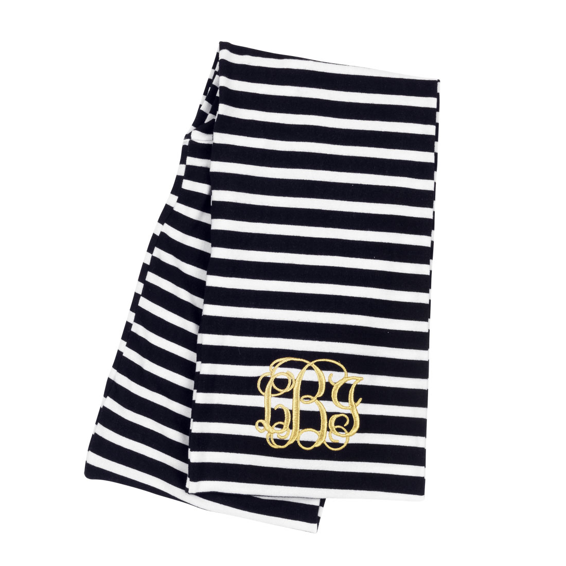 Black striped infinity scarf