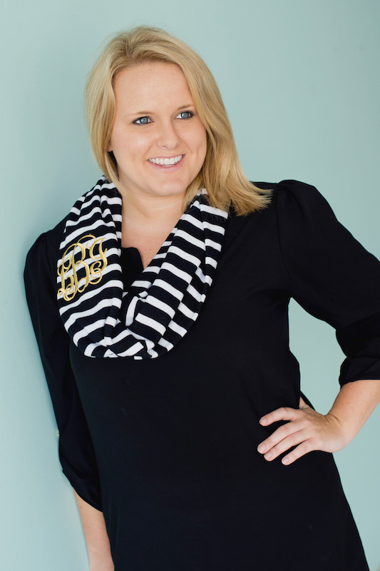 Stripe Black infinity scarf