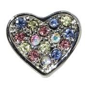 heart charm multicolored