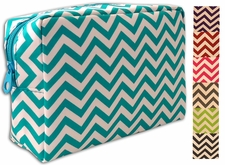 Chevron travel cosmetic bags