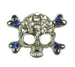 10mm Skull Charm Blue
