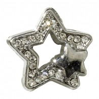 10mm Rhinestone Slider Charm Star