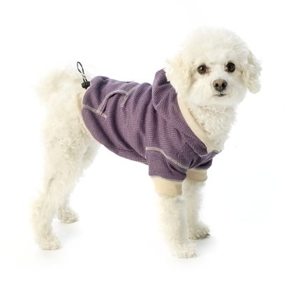 Dog Hoodie Heathered Light weight Waffle weave Heathered Spice or Dusty Purple
