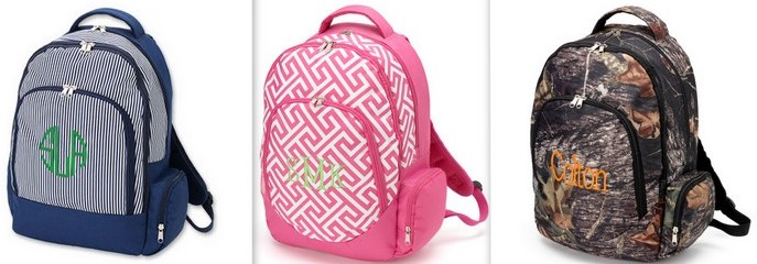 Best Seller Monogrammed Backpack