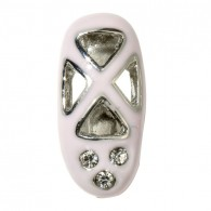 10mm Rhinestone Slider Charm Ballet Slipper