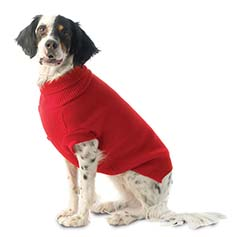 Best Seller Dog Sweater Classic Knit European Cut - Red