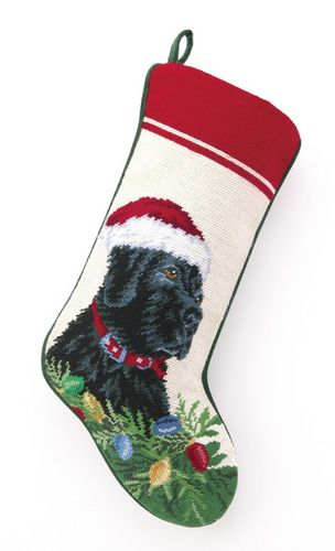 best seller christmas personalized dog breed needlepoint stockings