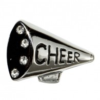 10mm Rhinestone Slide Charm Cheer Megaphone