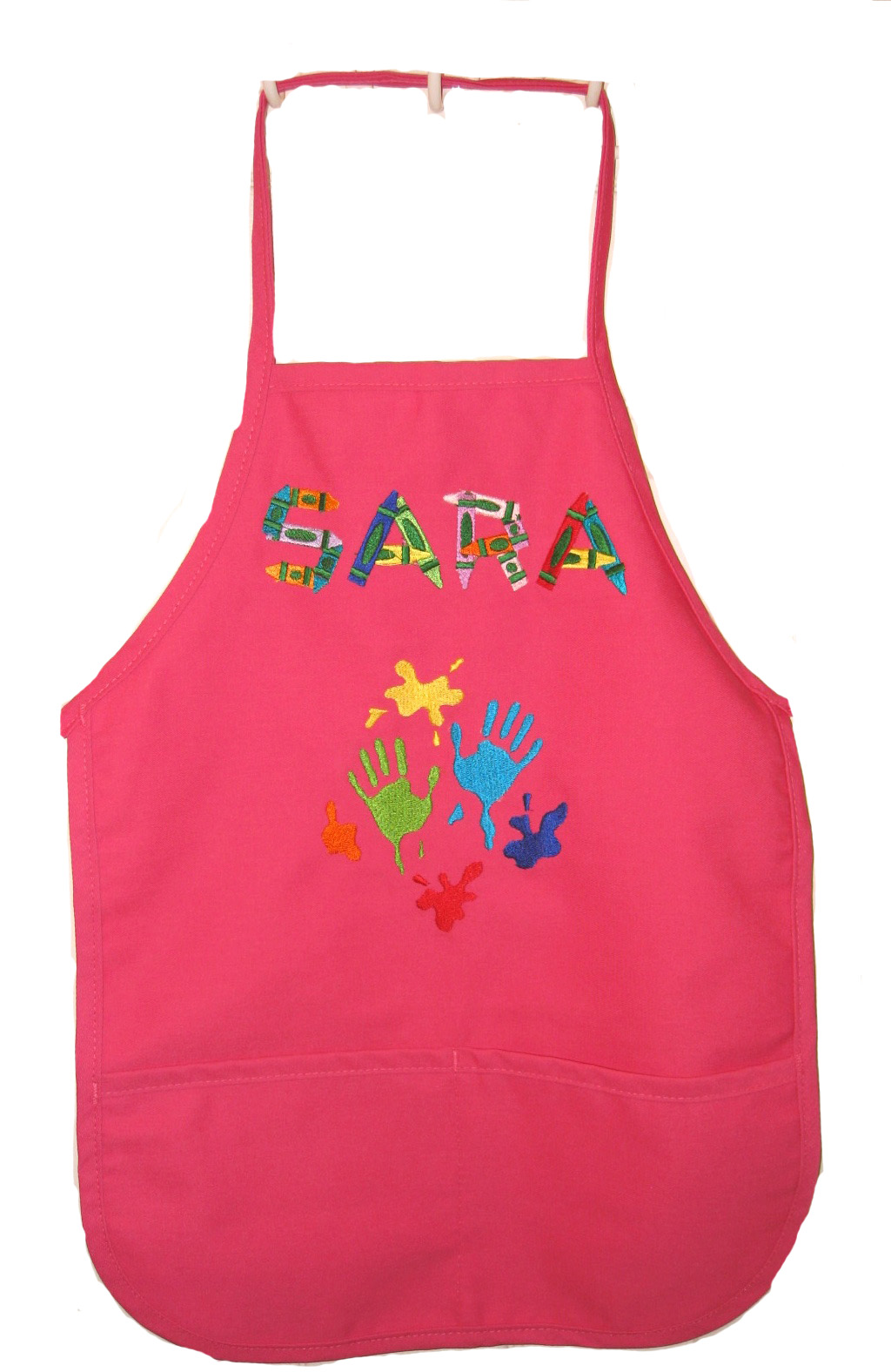 Best Seller Monogrammed Child Apron with Pockets, More Colors, Add a Design