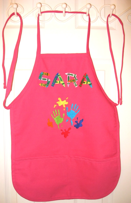 Best Seller Monogrammed Child's Apron with Pockets, More Colors, Add a Design