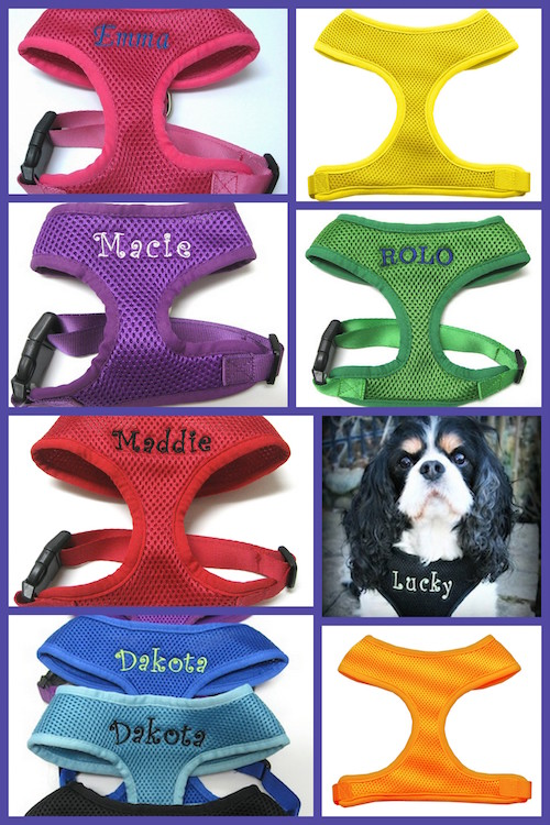 #1 Best Seller Dog Harness Personalized Custom Embroidered XS-XL, 9 colors