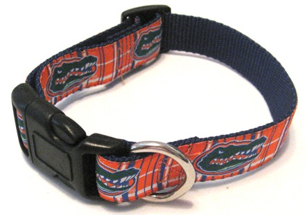 NCAA Dog Collar Florida Gators Plaid Dog Collar NCAA Officially licensed University of FL Gator Plaid Dog Collar and/or Leash