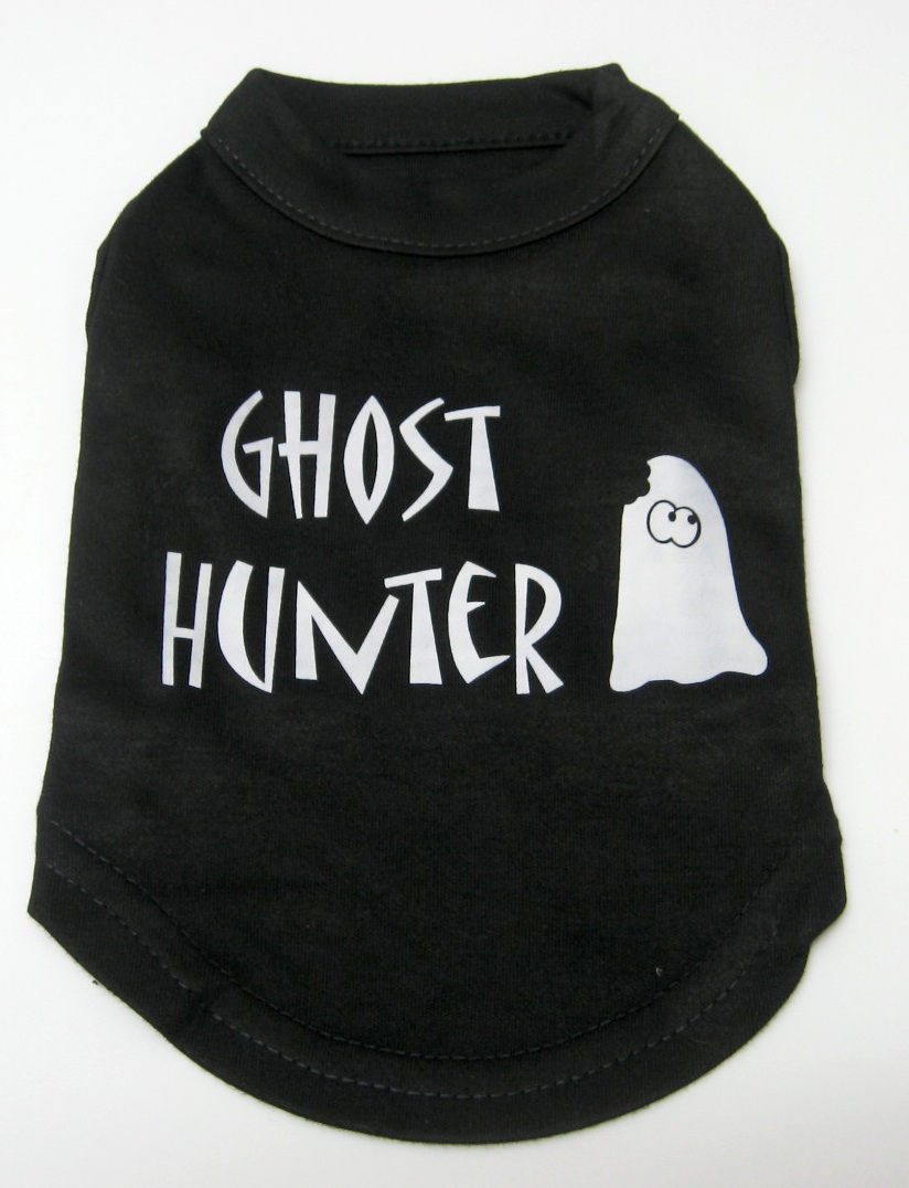 Halloween Dog Tank Shirt Ghost Hunter Screen Print
