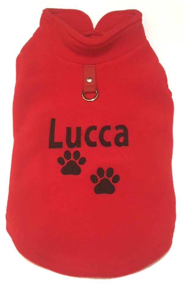 #1 Best Seller Gooby Fleece Dog Coat Harness Vest Personalized or Plain-XS to XL for Small Breeds, More Colors