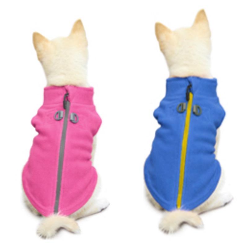 Personalized Gooby Dog Fleece Coat Zip up