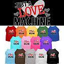 Best Seller Custom Dog Shirt Just a Love Machine - XS - 3XL